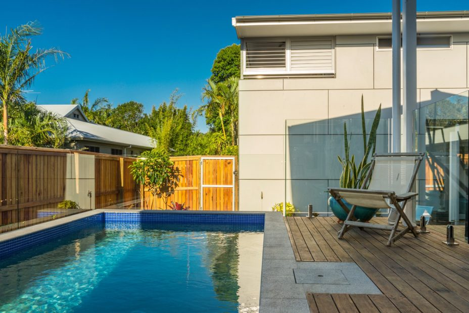 Aditi holiday house with swimming pool in Byron Bay
