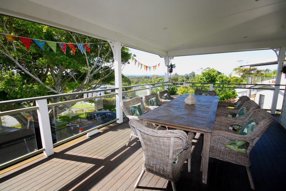 Away on Massinger 61 deck with ocean view