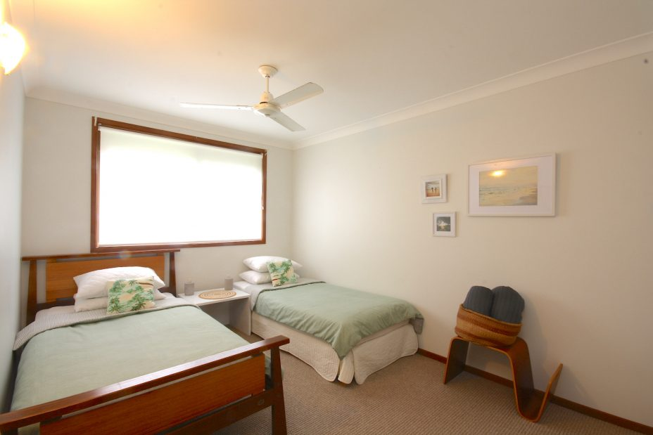 Twin bedroom holiday house