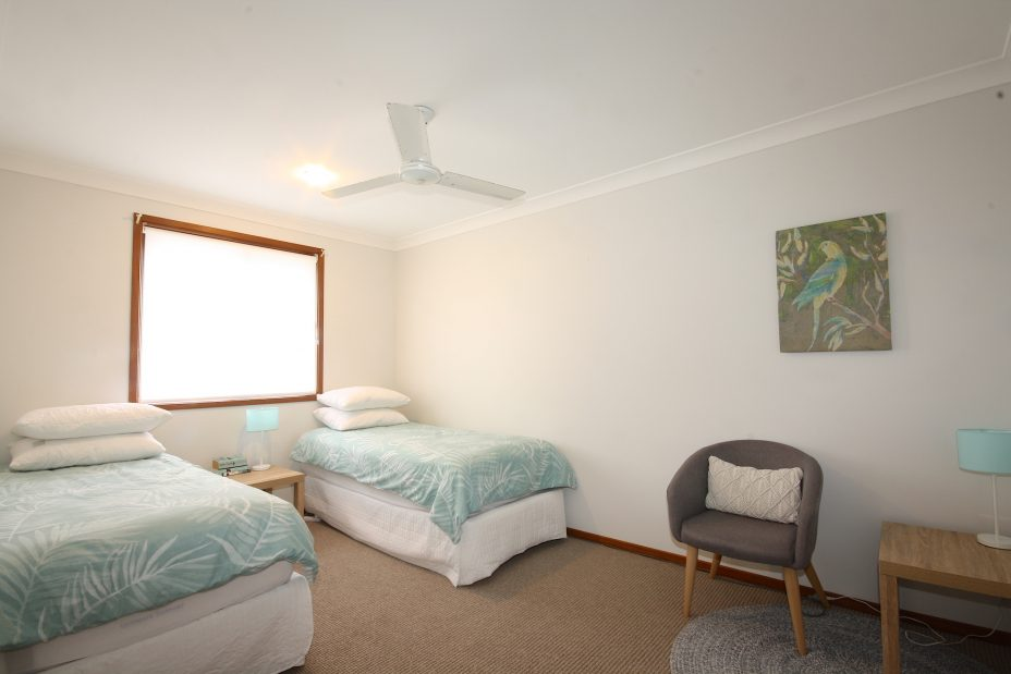 Byron Bay Holiday house twin bedroom