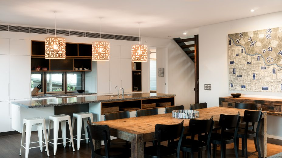 Ayana Byron Bay dining to kitchen