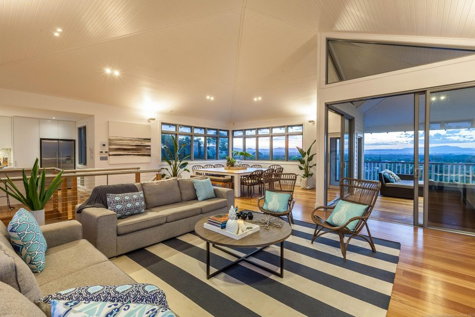 Vantage over Byron Bay living room